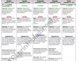 000 Archaicawful Weekly Lesson Plan Template Editable Highest Quality  Google Doc Preschool Downloadable Free320