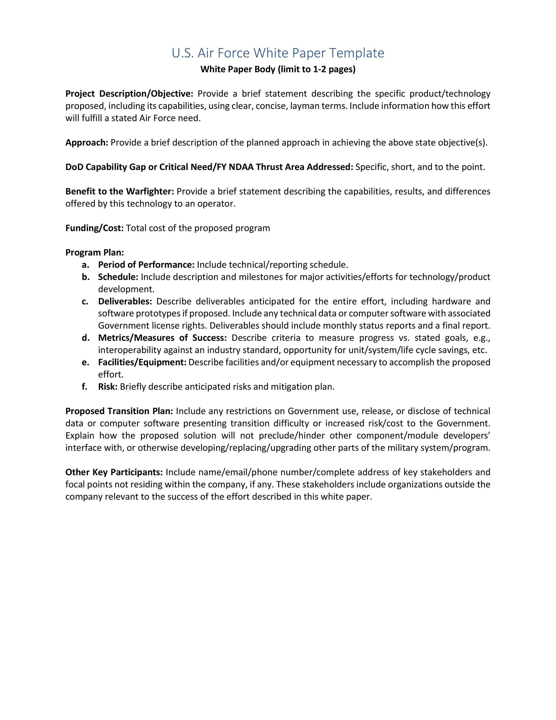 000 Archaicawful White Paper Outline Sample High Resolution Full