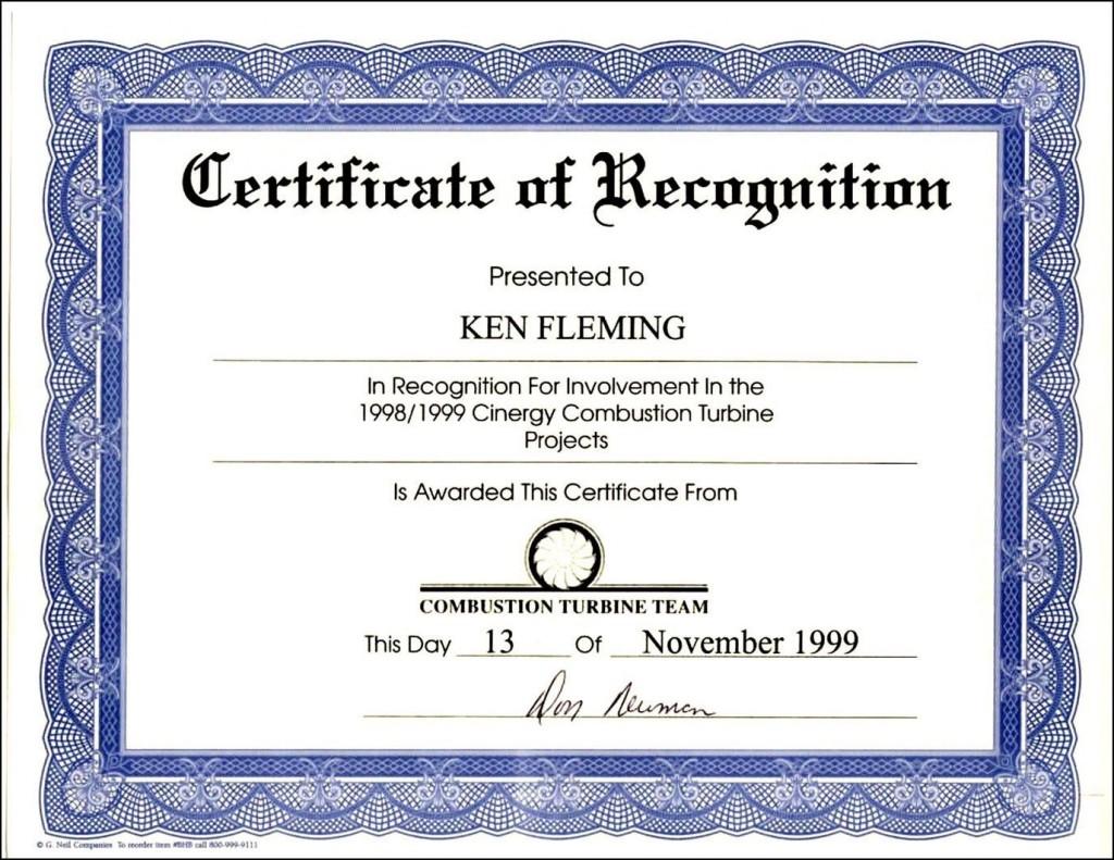000 Astounding Certificate Of Recognition Sample Wording Design  AwardLarge