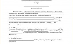 000 Astounding Contractual Joint Venture Agreement Template Uk High Resolution