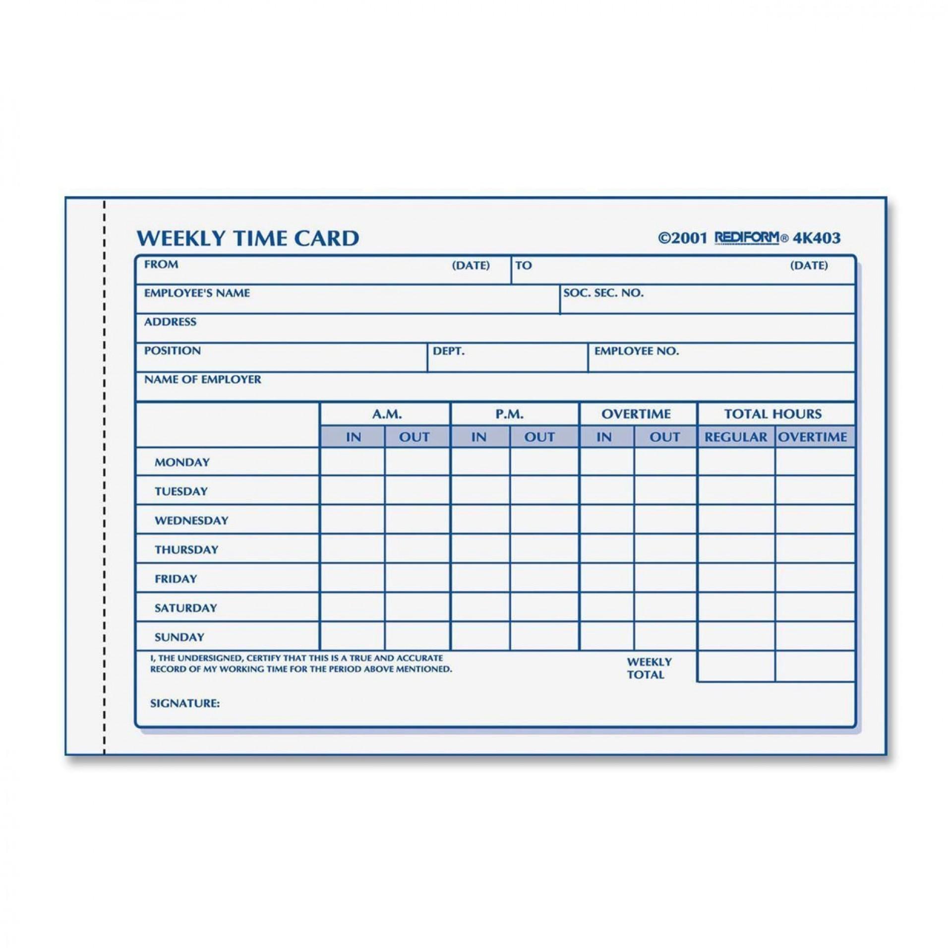 000 Astounding Employee Time Card Form Inspiration  Timesheet Template Excel Sheet Free1920
