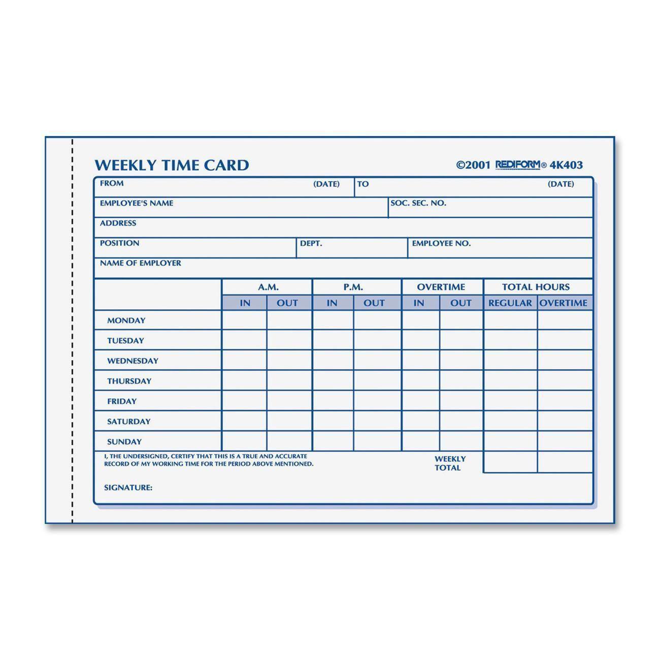 000 Astounding Employee Time Card Form Inspiration  Timesheet Template Excel Sheet FreeFull