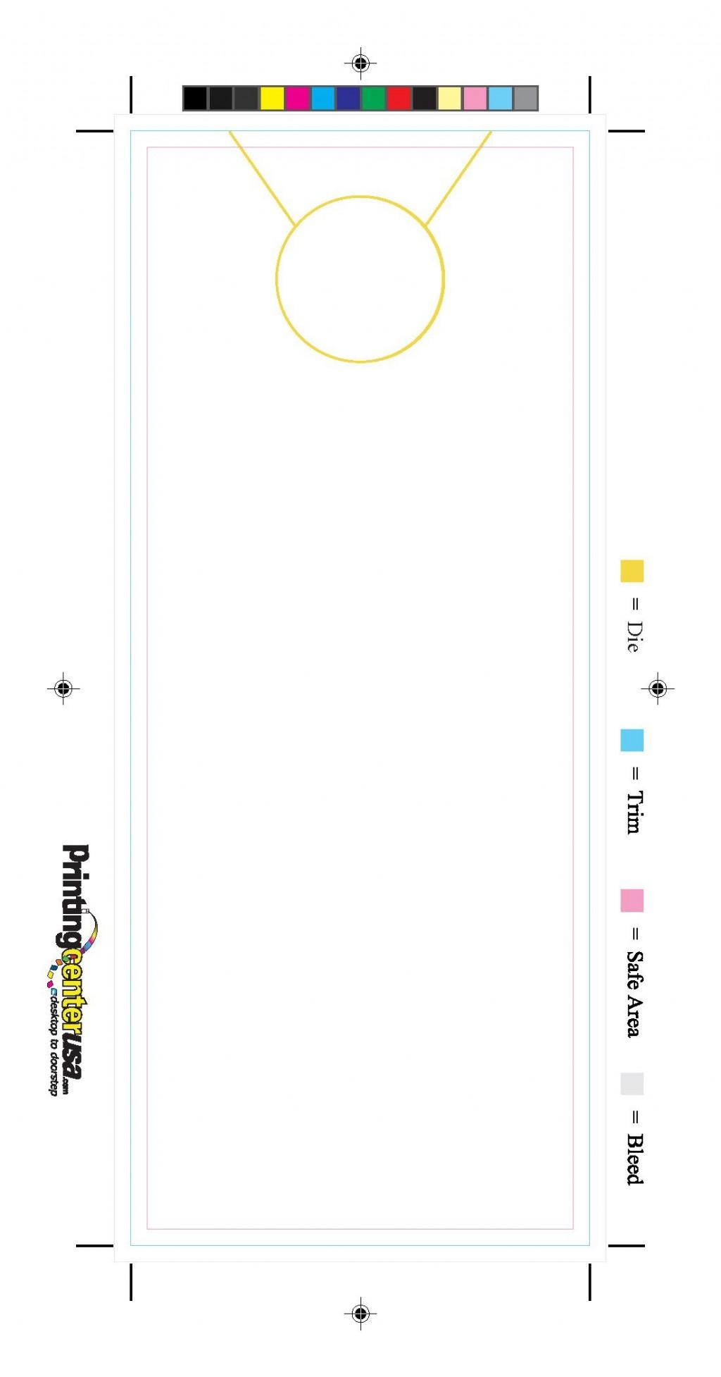 000 Astounding Free Door Hanger Template Sample  Templates Printable Wedding Blank DoorknobLarge