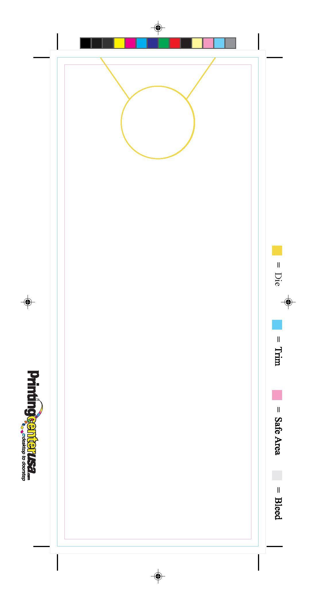 000 Astounding Free Door Hanger Template Sample  Templates Printable Wedding Blank DoorknobFull