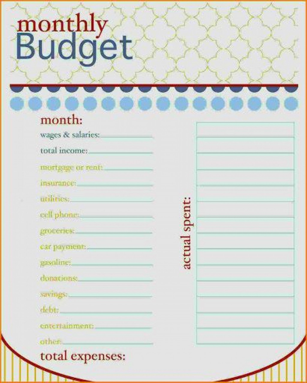000 Astounding Free Monthly Home Budget Template Highest Clarity  Household Simple ExcelLarge