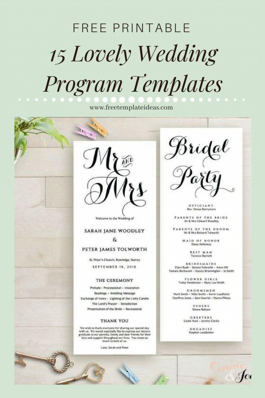 000 Astounding Free Printable Wedding Program Template Inspiration  Templates Microsoft Word IndianLarge