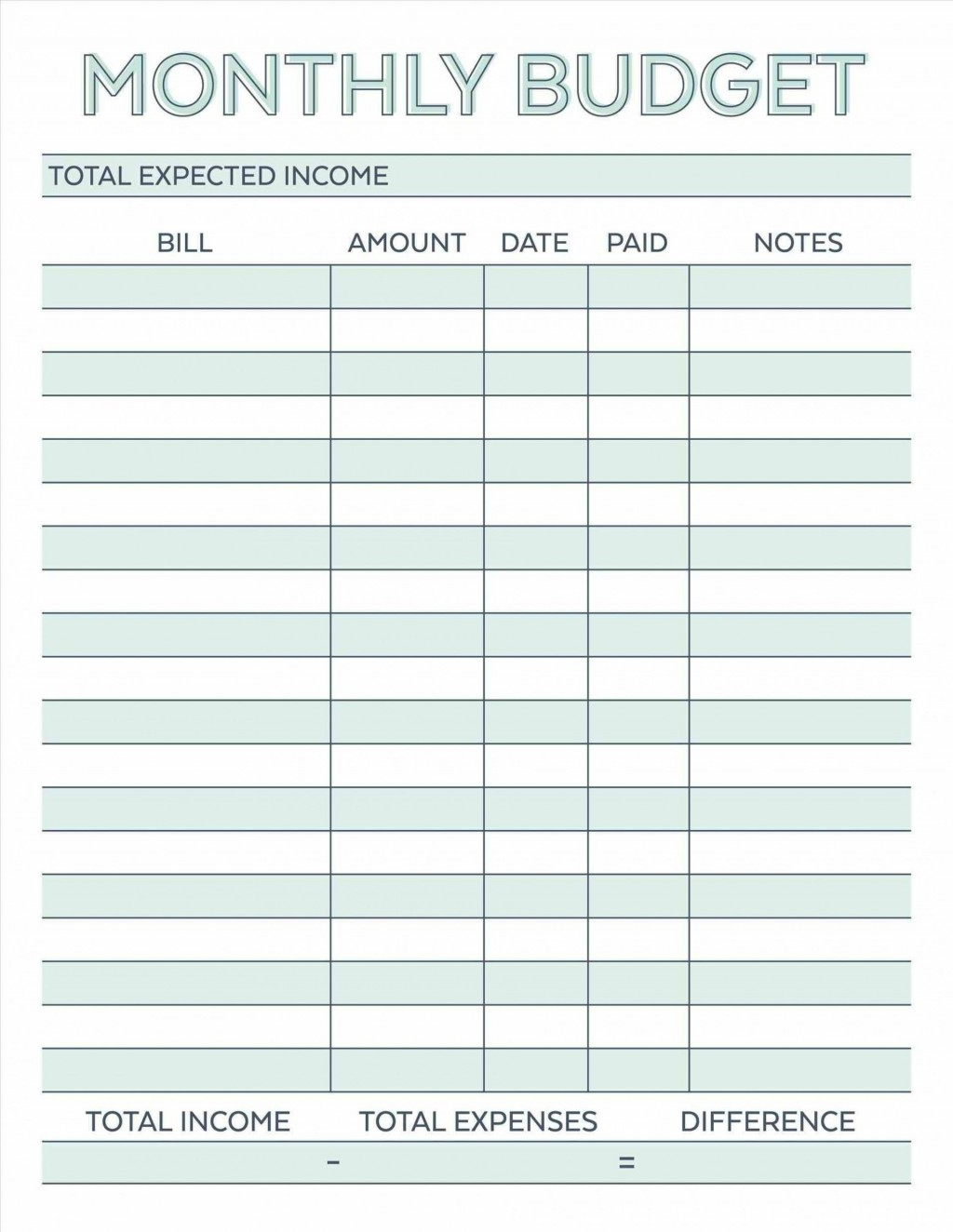 000 Astounding Free Simple Home Budget Template Photo Large