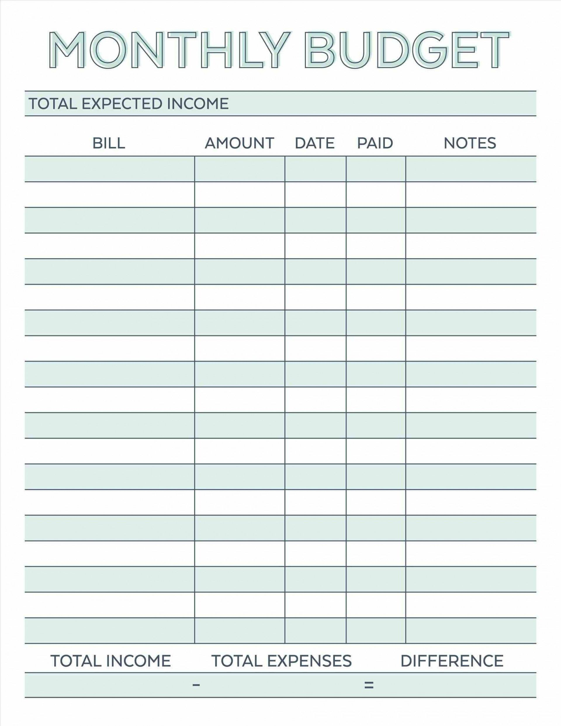 000 Astounding Free Simple Home Budget Template Photo Full