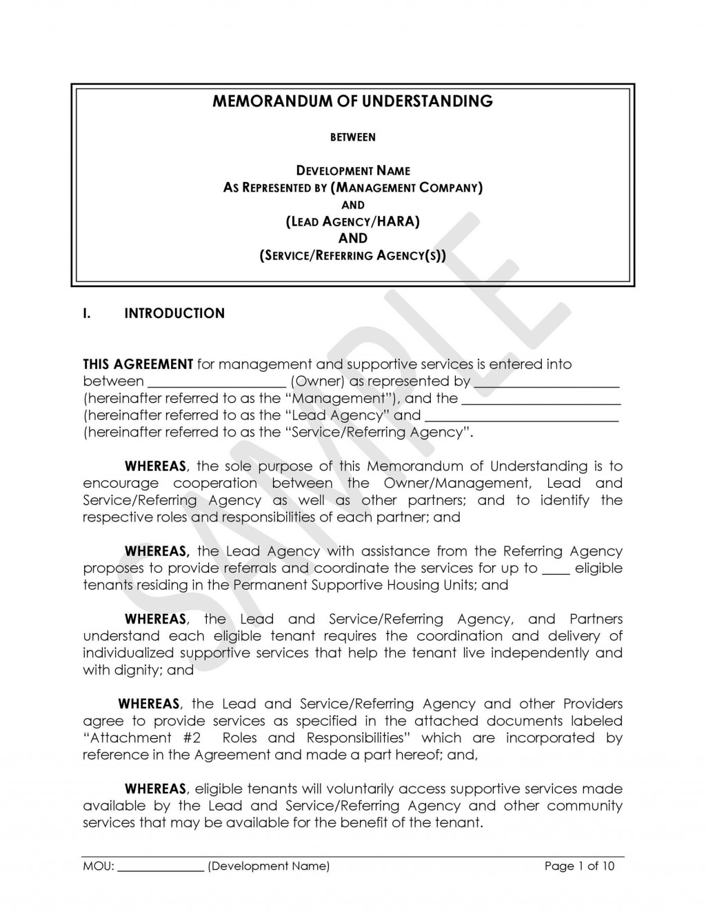 000 Astounding Letter Of Mutual Understanding Template High Resolution Large