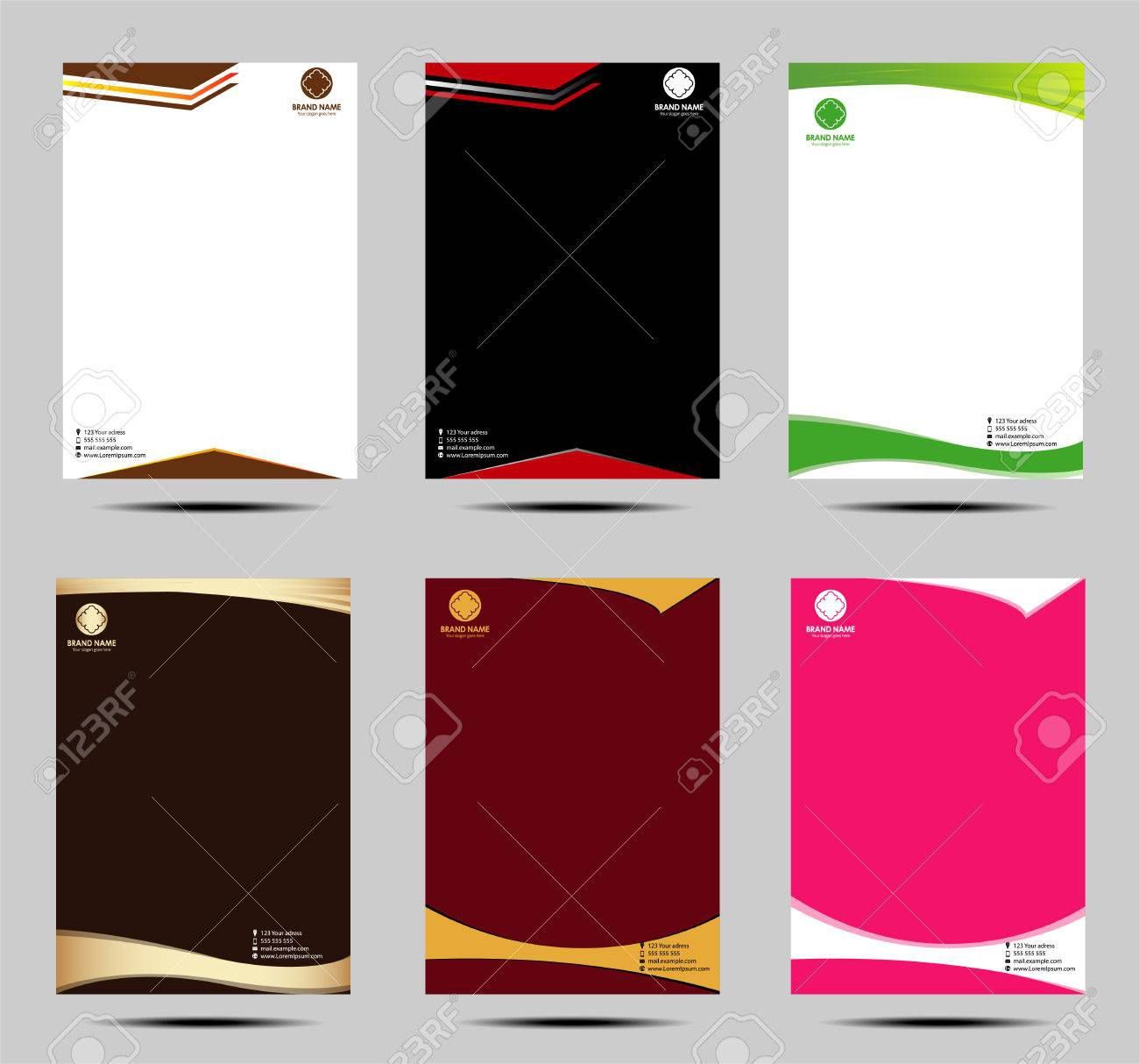 000 Astounding Letter Pad Design Template High Definition  Letterhead Download Ai Free In WordFull