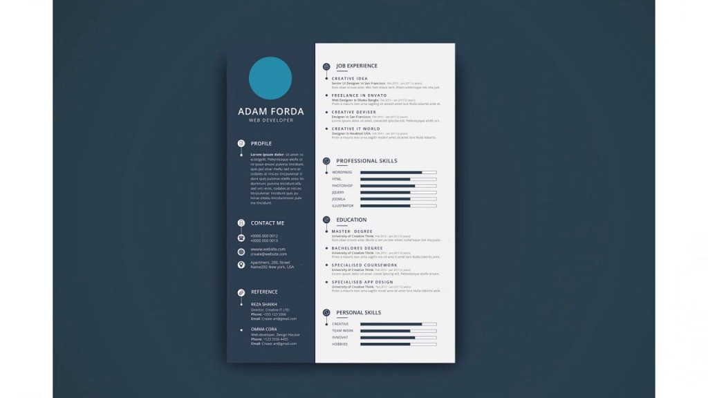 000 Astounding Photoshop Cv Template Free Download Sample  Creative Resume Psd AdobeLarge