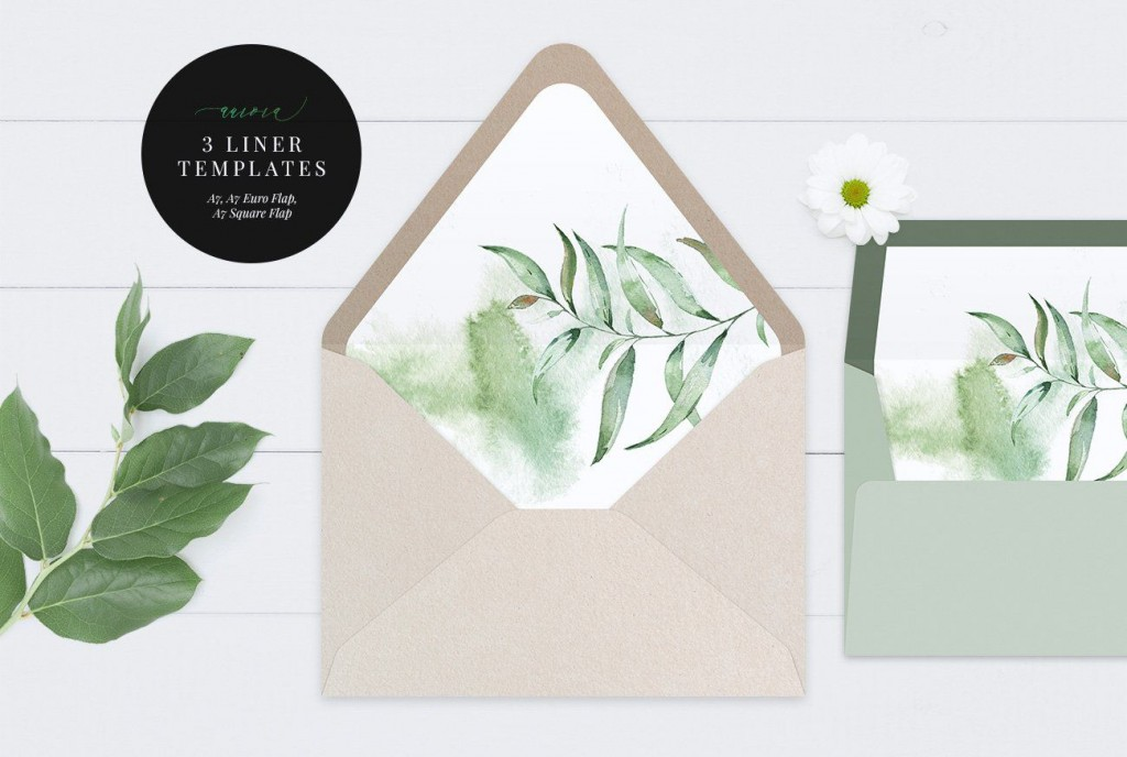 000 Awesome A7 Square Flap Envelope Liner Template Example Large