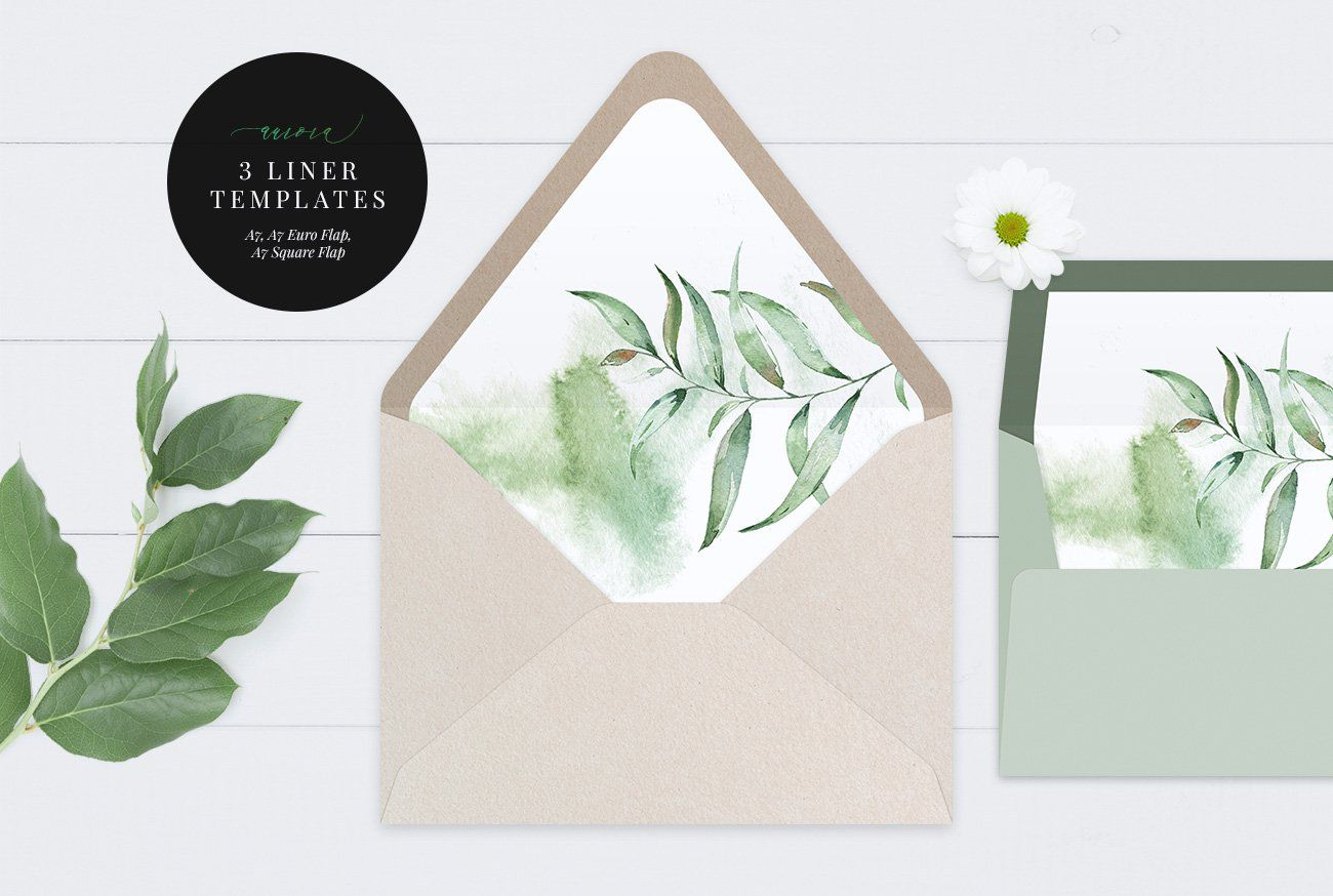 000 Awesome A7 Square Flap Envelope Liner Template Example Full