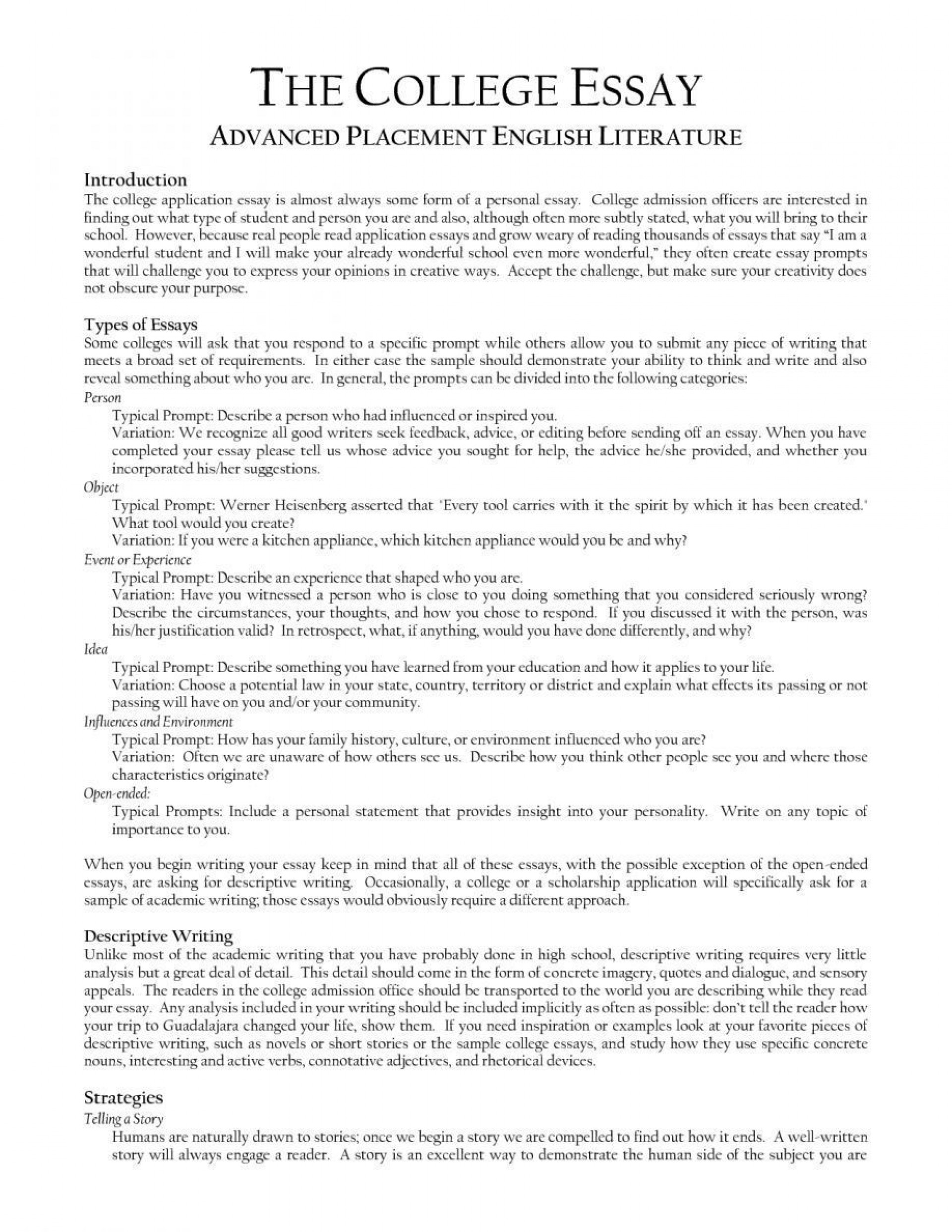 000 Awesome College Essay Format Example High Resolution  Examples Writing Application Sample Admission1920