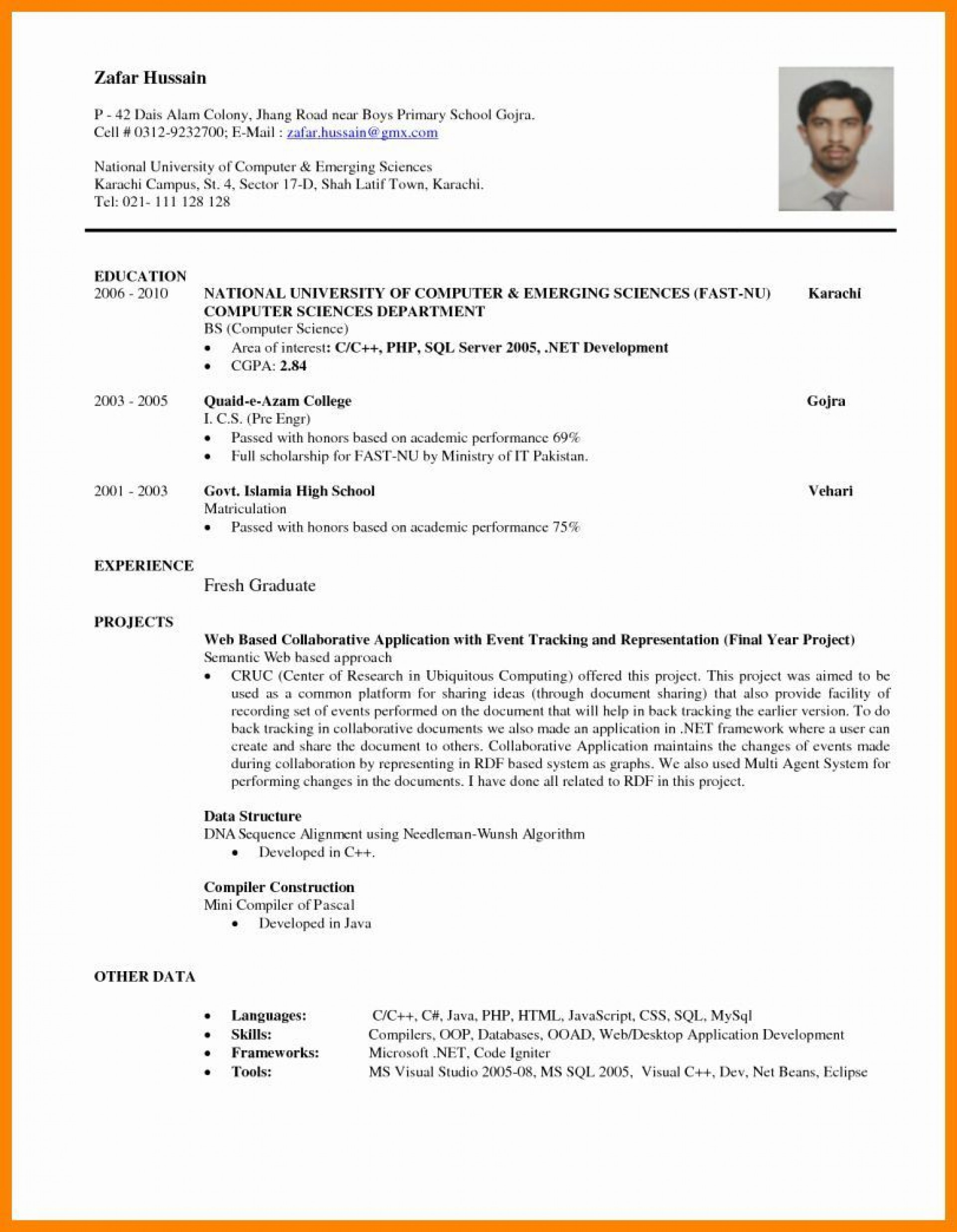000 Awesome Entry Level Resume Template Word Sample  Free For1920