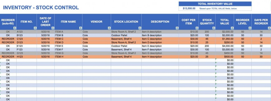 000 Awesome Excel Inventory Template With Formula High Resolution  Formulas Uk Free Download Warehouse