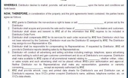 000 Awesome Exclusive Distribution Agreement Template Free Idea  Download Australia Non
