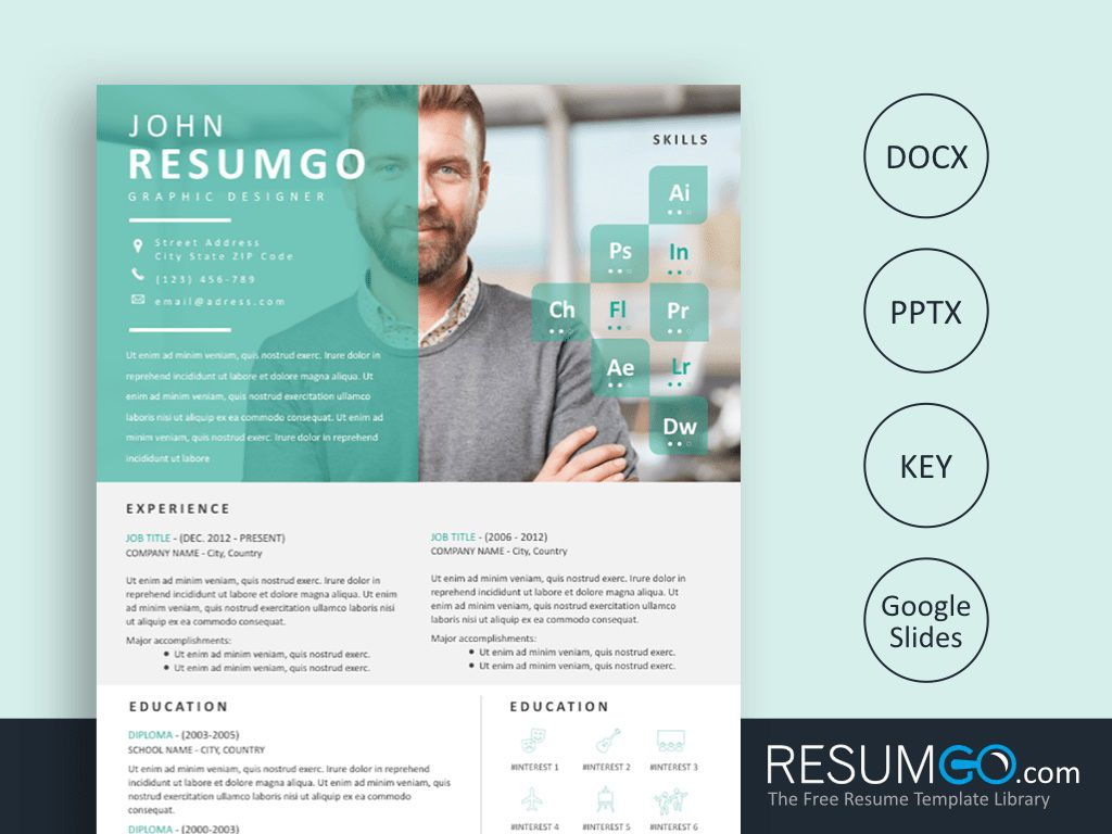 000 Awesome Eye Catching Resume Template Concept  Microsoft Word Free Download MostFull