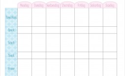 000 Awesome Family Meal Planner Template Design  Word Menu