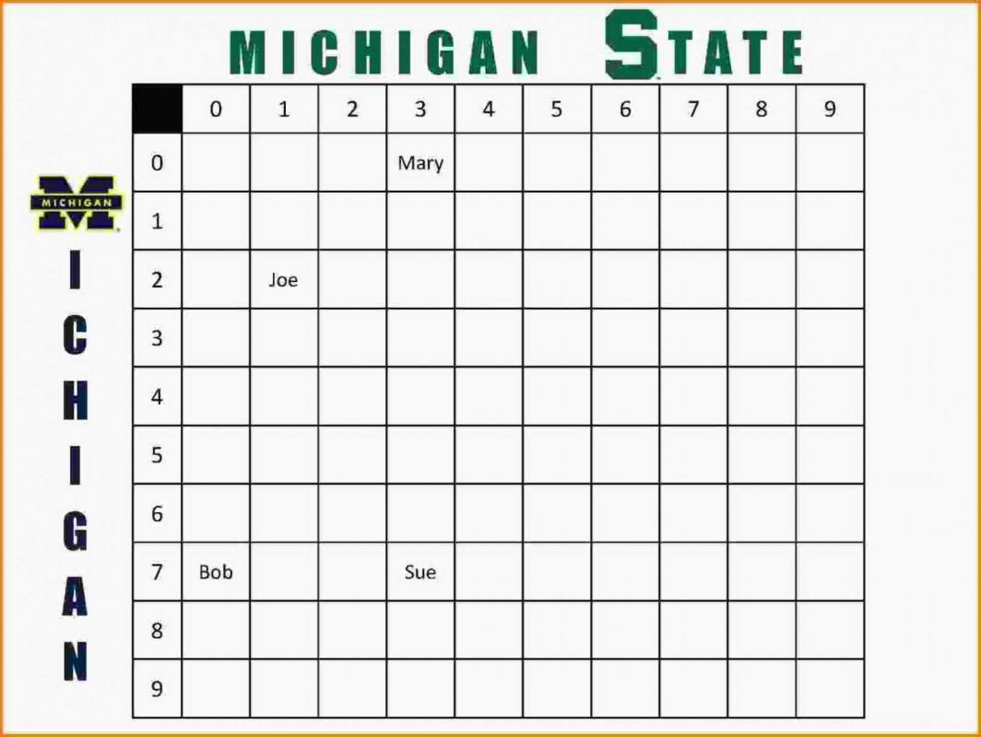 000 Awesome Football Square Template Excel Inspiration  Printable Pool1920