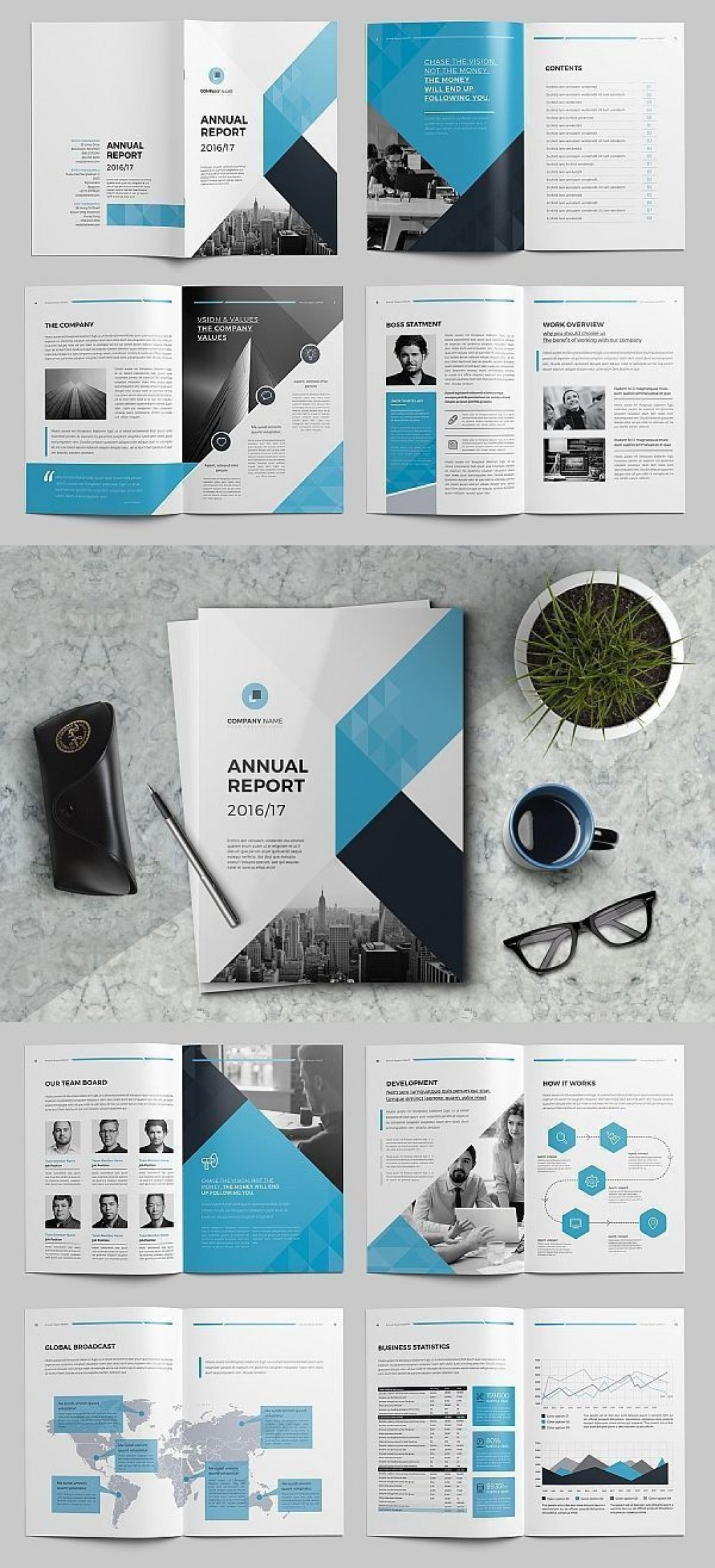 000 Awesome Free Adobe Indesign Annual Report Template Image Large