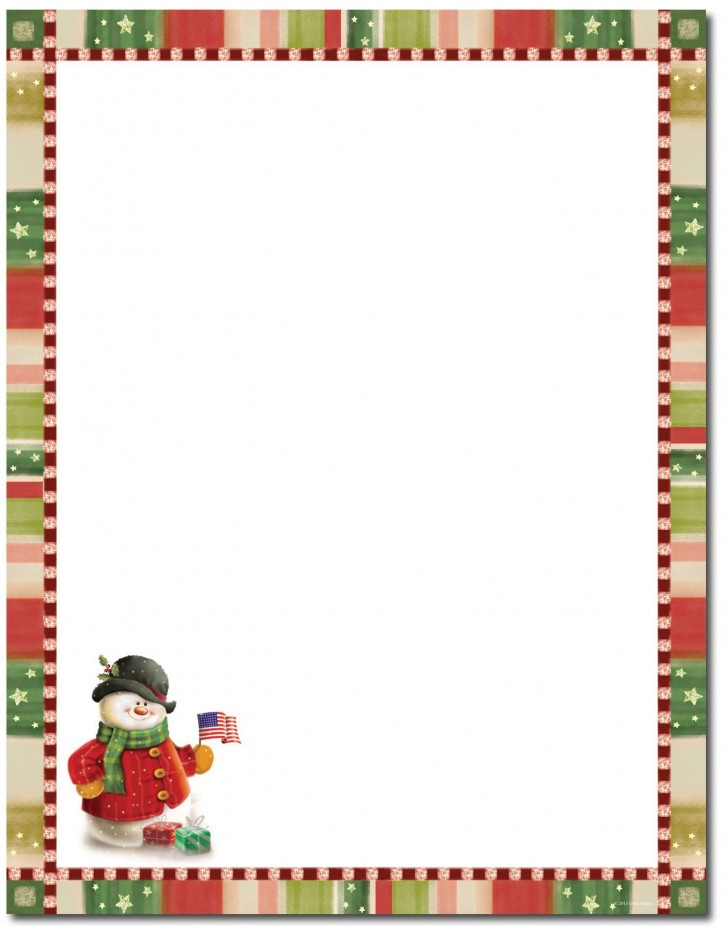 000 Awesome Free Holiday Stationery Template For Word Inspiration 728