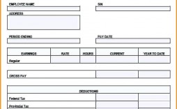 000 Awesome Free Pay Stub Template Excel Example  Canada