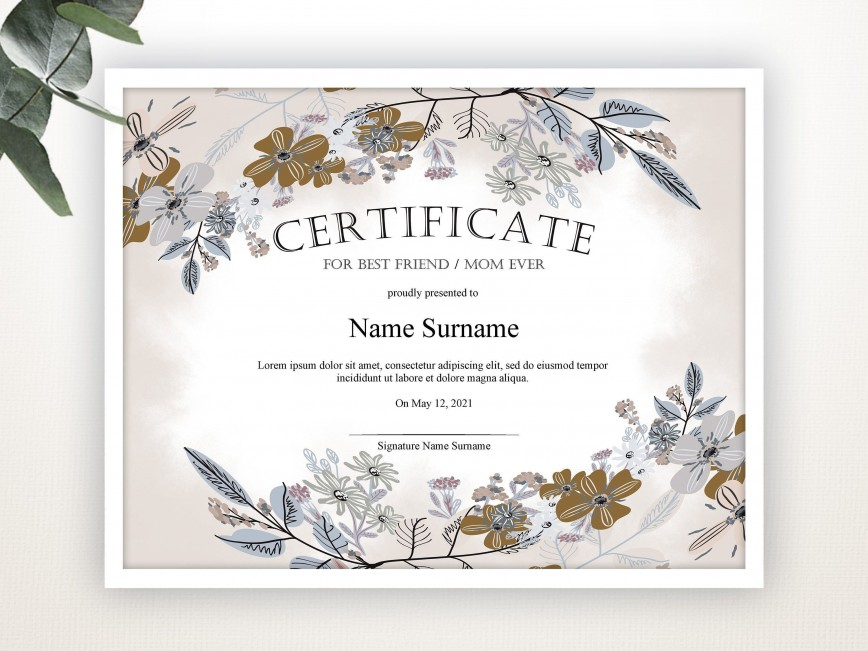 000 Awesome Gift Certificate Template Pdf Image  Free Printable