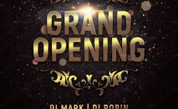 000 Awesome Grand Opening Flyer Template Free Image  Restaurant