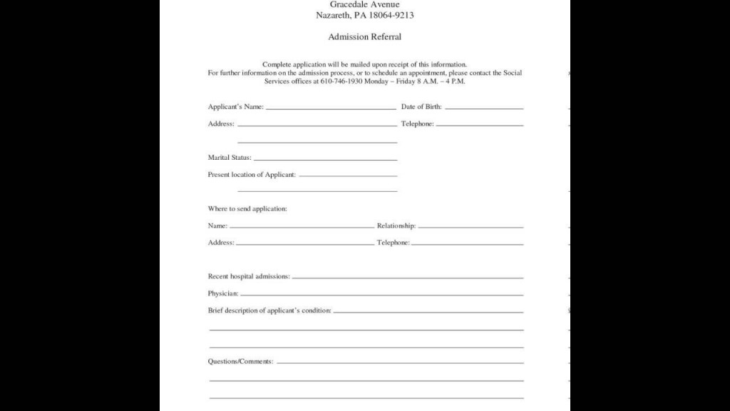 000 Awesome Hospital Discharge Form Template Highest Quality  PatientLarge