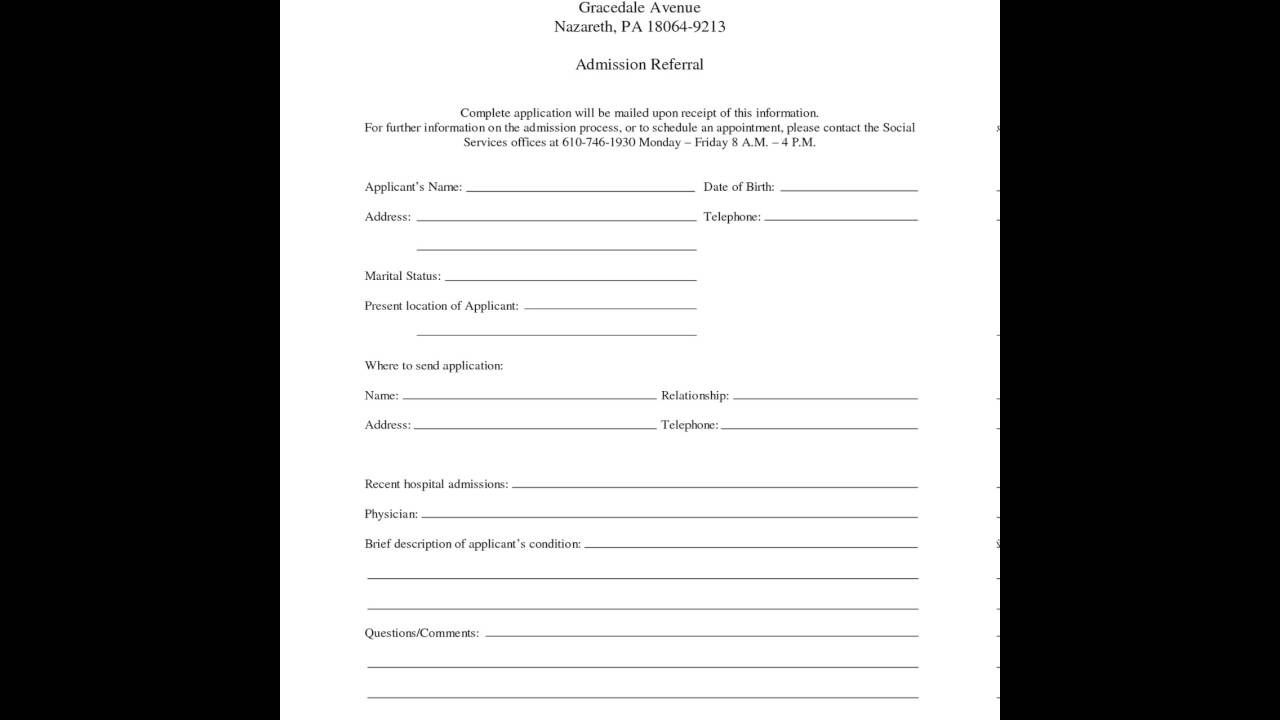 000 Awesome Hospital Discharge Form Template Highest Quality  PatientFull