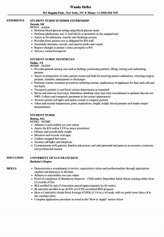 000 Awesome Nursing Student Resume Template High Def  Free Word320