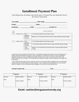 000 Awesome Payment Plan Agreement Template Photo  Free320