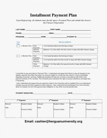 000 Awesome Payment Plan Agreement Template Photo  Free360