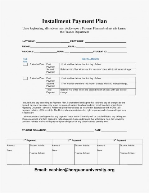 000 Awesome Payment Plan Agreement Template Photo  Free480