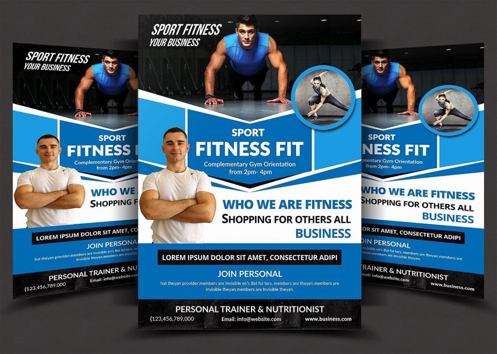 000 Awesome Personal Trainer Flyer Template High Definition  Word PsdLarge