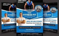000 Awesome Personal Trainer Flyer Template High Definition  Word Psd