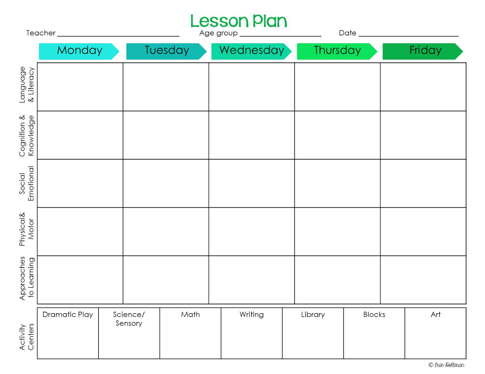 000 Awesome Preschool Lesson Plan Template Example  Free Printable Creative Curriculum DocFull