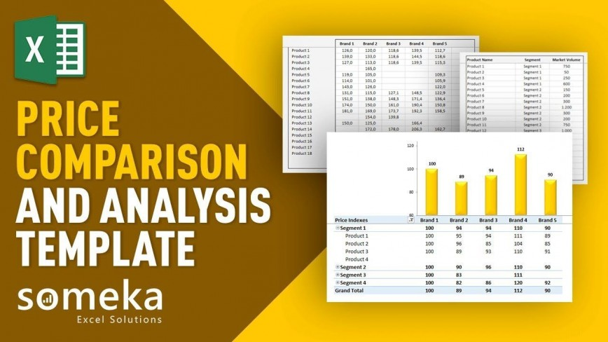 000 Awesome Price Comparison Excel Template High Resolution  Competitor Download868