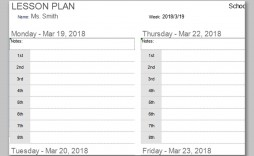 000 Awesome Printable Lesson Plan Template Free Inspiration  Preschool Weekly Pdf For Toddler