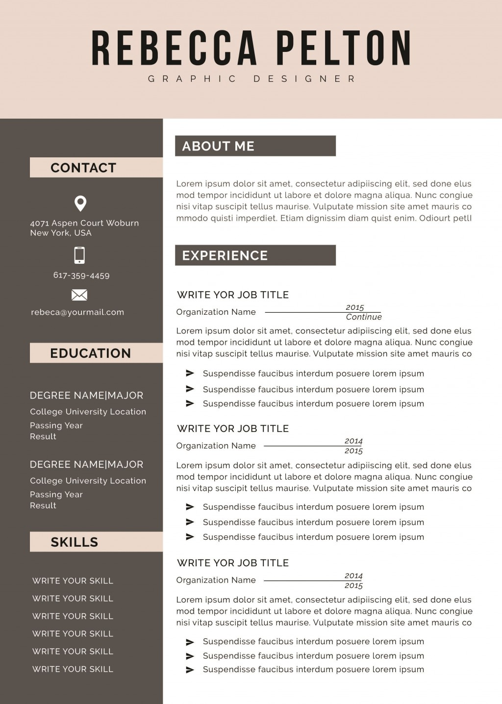 000 Awesome Professional Cv Template Free 2019 Inspiration  Resume DownloadLarge