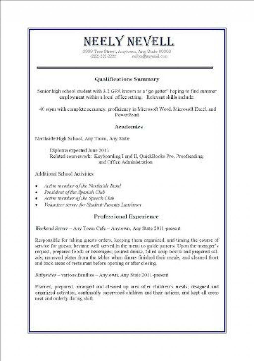 000 Awesome Resume Template For Teen High Definition  Teenager First Job AustraliaLarge