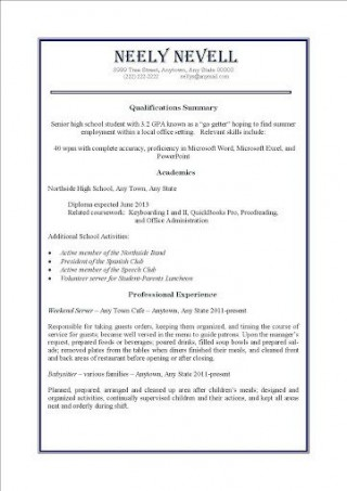 000 Awesome Resume Template For Teen High Definition  Teenager First Job Australia320
