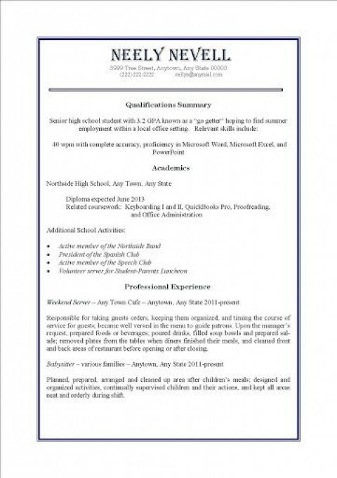 000 Awesome Resume Template For Teen High Definition  Teenager First Job Australia480