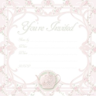 000 Awesome Tea Party Invitation Template High Def  Vintage Free Editable Card Pdf320