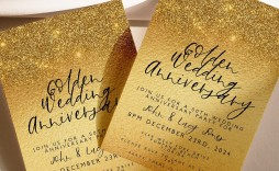 000 Awful 50th Wedding Anniversary Invitation Template Concept  Templates Card Sample Golden