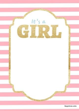 000 Awful Baby Shower Invitation Girl Free Printable Idea  Twin320