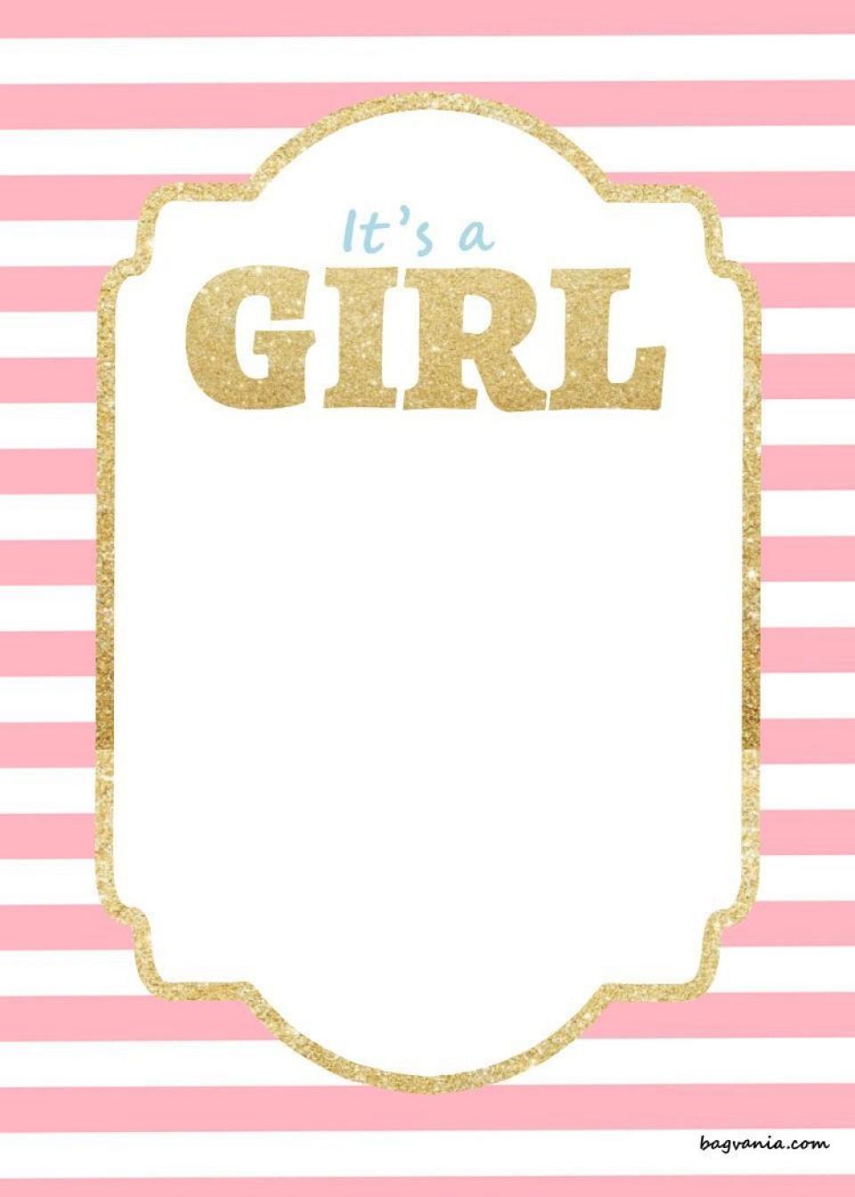 000 Awful Baby Shower Invitation Girl Free Printable Idea  Twin960