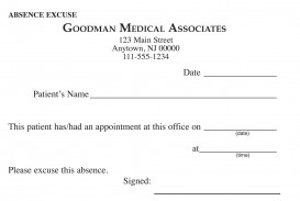 000 Awful Doctor Excuse Template For Work High Definition  Missing Note