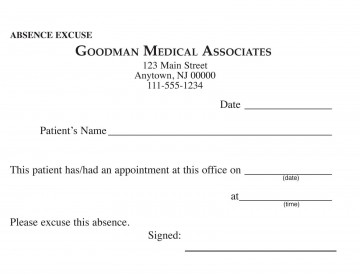 000 Awful Doctor Excuse Template For Work High Definition  Missing Note360